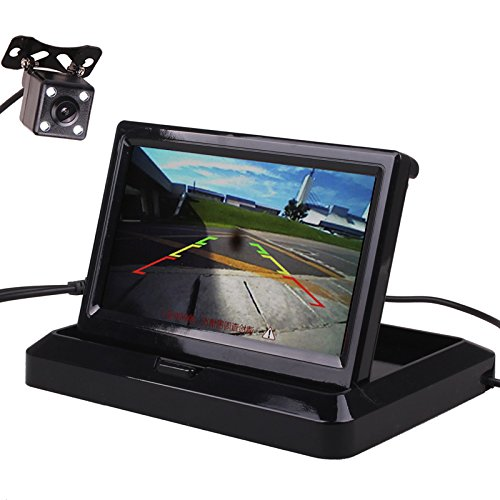 車載用小型 液晶モニター5インチ+LEDバックカメラ 140...