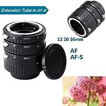 QKOO Auto Focus Metal AF Macro Extension Tube Set for Nikon D7100 D7000 D5100 D5300 D3100 D300s D300 D800 D750 D600 D90 D80 DSLR Camera