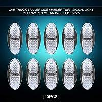 FidgetGear 10本防水4 LEDサイドマーカーライトカートレーラートラックバンボート10-30V