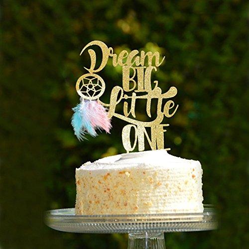 Rainlemon Dream Big Little One Cake Topper Dream Catcher Baby Shower Party Cake Decoration Supply