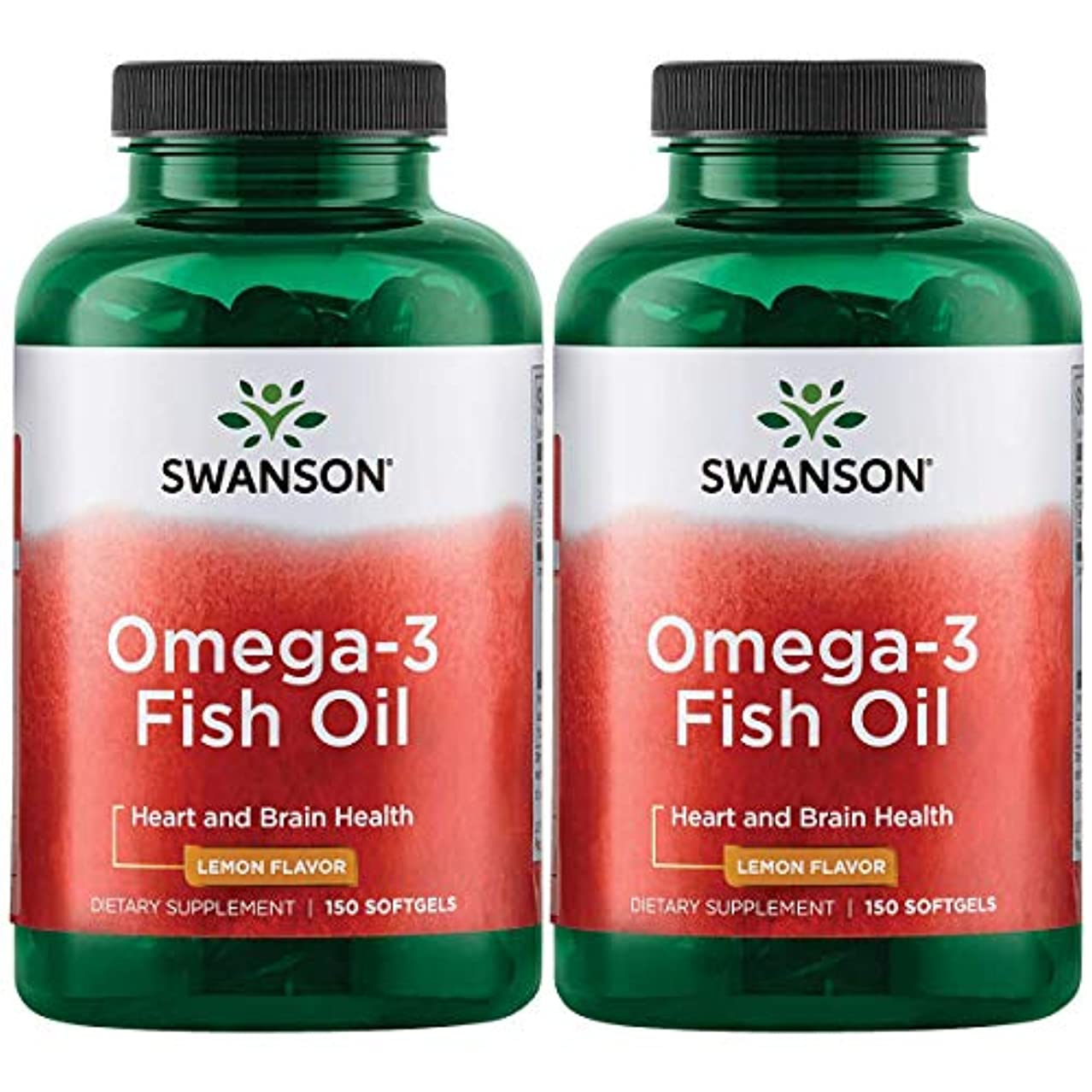 狂気収入いらいらさせるSwanson Omega 3 Fish Oil EPA + DHA Lemon Flavor 150粒×2個