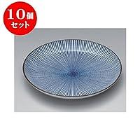 10個セット 丸和皿 千段十草6.0皿 [18.2 x 2.4cm] 【料亭 旅館 和食器 飲食店 業務用 器 食器】