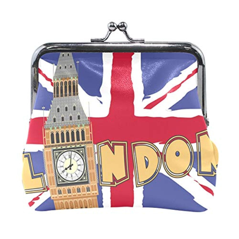 AOMOKI 財布 小銭入れ ガマ口 コインケース レディース メンズ レザー 丸形 おしゃれ プレゼント ギフト オリジナル 小物ケース ロンドン イギリス風