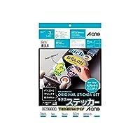 AL91007 手作りステッカー[インクジェット]下地が透けないタイプ A4 1面【AKB】