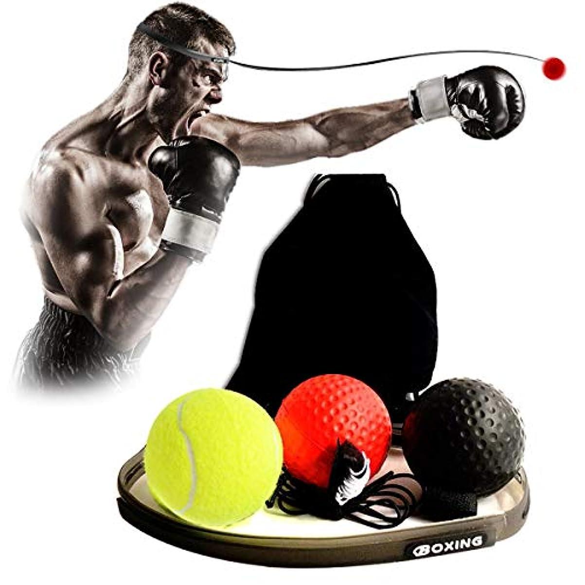喜劇理容師いろいろBoxing リフレックスボール3 難易度 ボクシングボール ヘッドバンド付き ケアバッグ ファイトスキル ハンドアイコーディネーショントレーニング テニスボールより柔らかい 反応 敏捷性 パンチスピード ファイトに最適