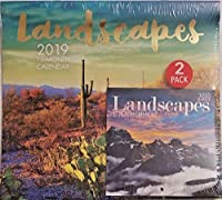 2 Pack of 12 Month 2019 Wall Calendars Landscapes [並行輸入品]