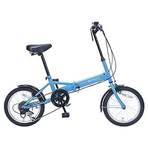 My Pallas(マイパラス) 折りたたみ自転車 M-102 16インチ 6段変速 ブルー