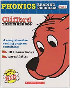 Clifford the Big Red Dog Phonics Fun Reading Program Pack 1 (12 Books) クリフォードフォニックス・ボックスセット1
