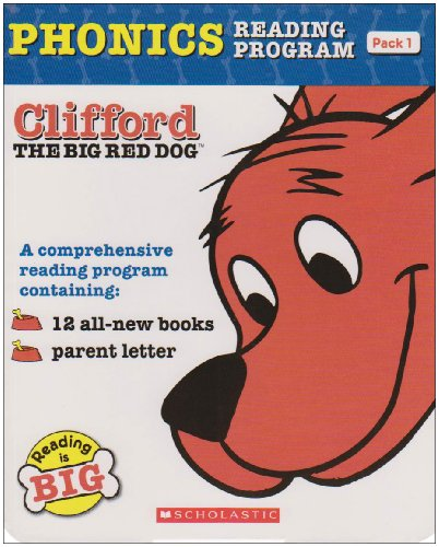 Clifford the Big Red Dog Phonics Fun Reading Program Pack 1 (12 Books) クリフォードフォニックス・ボックスセット1 Scholastic