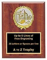 音楽Plaque Awards 6x 8WoodカラオケSinging Trophy学校Choir Trophies Free Engraving