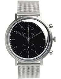 [HYAKUICHI 101] 日本製 腕時計 ウォッチ クロノグラフ スモールセコンド クラシック シルバー メンズ