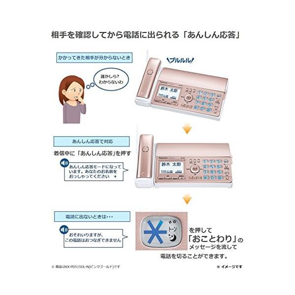 パナソニック デジタルコードレスFAX 子機2...の紹介画像6
