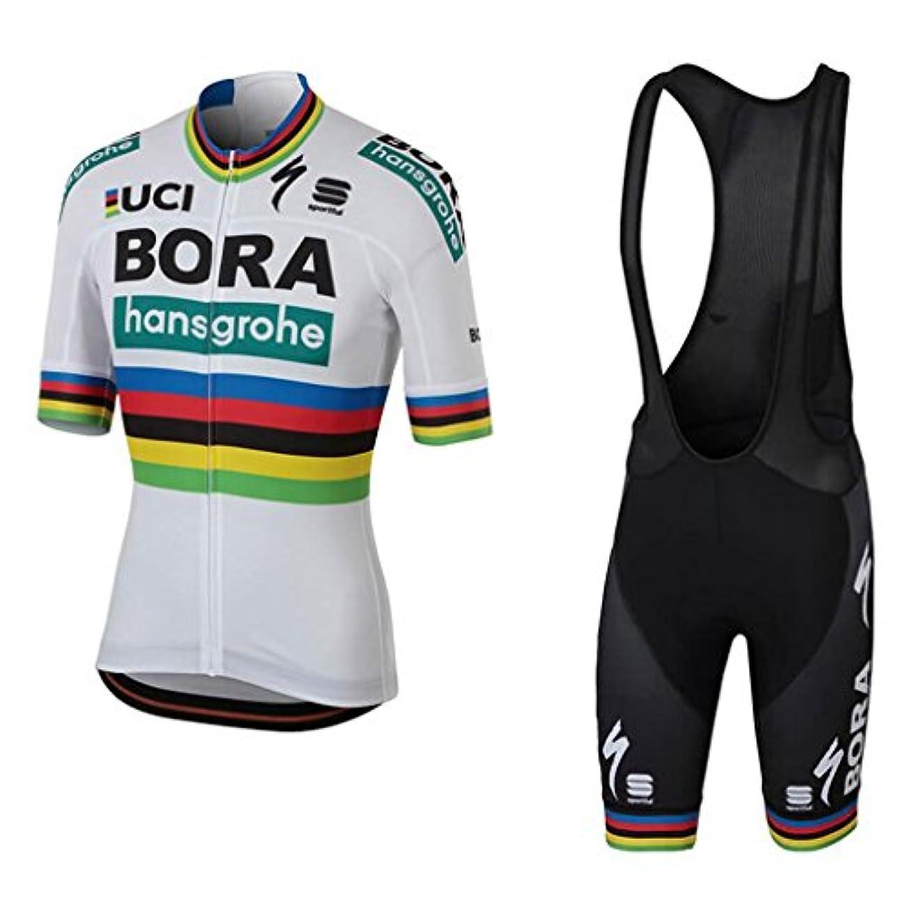 哺乳類耐えられない関連付けるサイクリングウェア メンズ サイクル ジャージ 半袖 上下 ビブ セット サイクリングパンツ パット付き 自転車ウェア 吸汗/伸縮/速乾/通気