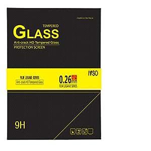 IVSO Sony Xperia z3コンパクトタブレット0.3MM超薄型9h硬度2.5Dラウンドエッジ最高品質HDクリア&傷防止/飛散防止/指紋防止/水プレミアム強化ガラススクリーンプロテクター(1個)