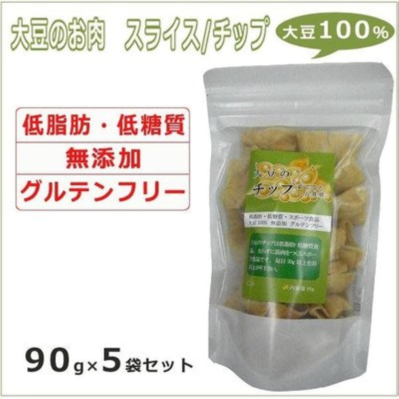 薄汚い運賃感動する大豆のお肉 ソイミート スライス/チップ 90g×5袋
