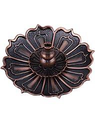 蓮の花の形の香ホルダー - 線香炉 香立て お香用具 お線香用可 アロマ香炉9×3.5センチメートル