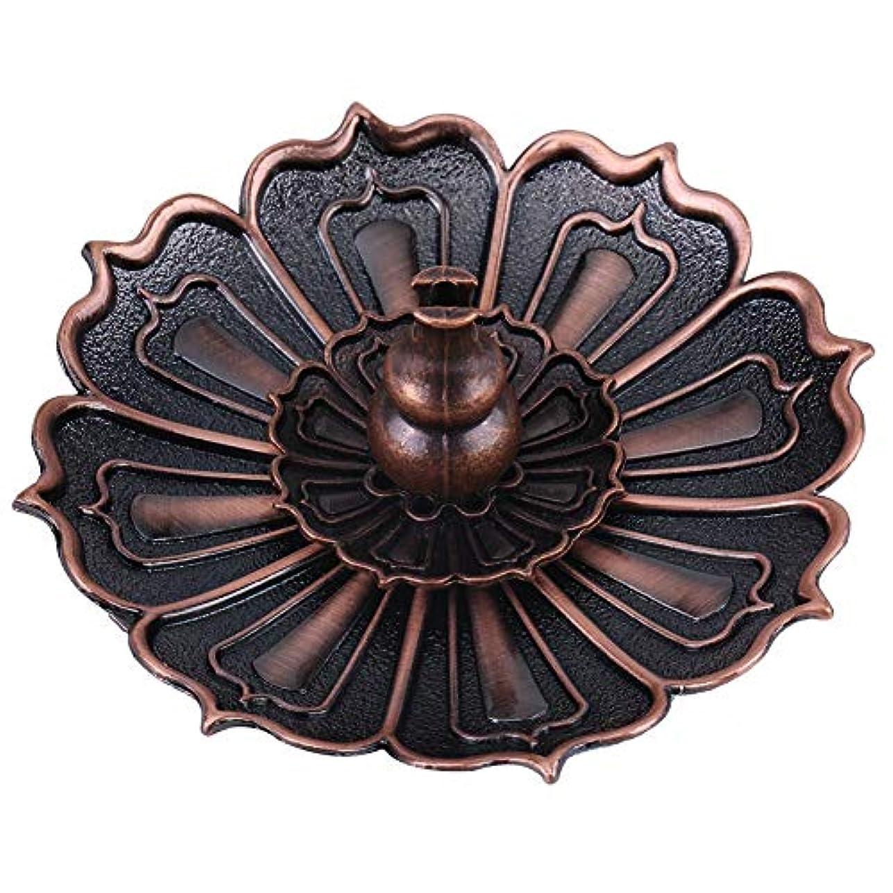 ドリル抜本的なペルセウス蓮の花の形の香ホルダー - 線香炉 香立て お香用具 お線香用可 アロマ香炉9×3.5センチメートル