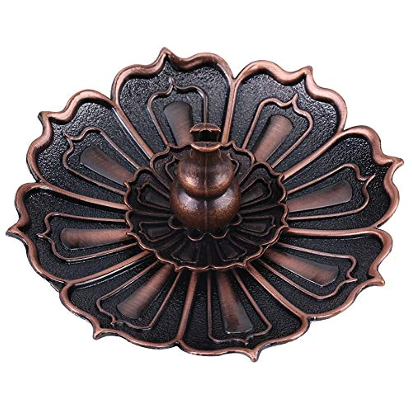 変色するスナッチ実際の蓮の花の形の香ホルダー - 線香炉 香立て お香用具 お線香用可 アロマ香炉9×3.5センチメートル