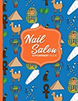 Nail Salon Appointment Book - Cute Ancient Egypt Pyramids Cover: 4 Columns