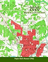 2020 Weekly Planner: Poplar Bluff, Missouri (1966): Vintage Topo Map Cover