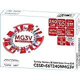 CFD販売 内蔵SSD SATAタイプ CSSD-S6T240NMG3V 240GB (東芝製SSD採用)