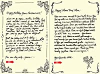Quiplip Handwritten Yours Truly Birthday Cards 6-Pack (YT02186PCK) [並行輸入品]