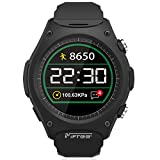 Sports Outdoors Best Deals - LUOOV Sport Smart Outdoor Wristwatch Phone スマートウォッチ iPhone &Android 液晶画面 気圧測定 心拍数計 電話応答 歩数計 着信通知 睡眠記録 Android&iOS対応 (Black)