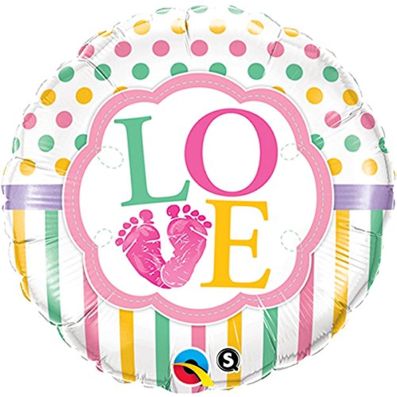 Qualatex 18 Inch Round Foil Balloon - Baby Girl Feet