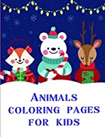 Animals coloring pages for kids: A Funny Coloring Books for Animal Lovers for Stress Relief & Relaxation (Art Design)