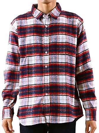 (エスアンドサンズ) S&SONS チェック柄 長袖 ネルシャツ シャツ メンズ チェックシャツ 秋 秋冬 D / L
