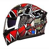 KUVVパーフェクト ホットブラッドボール/黒赤パターン大人自転車ヘルメット乗馬電気自動車オートバイヘルメット自転車マウンテンバイクヘルメット屋外乗馬機器 (Size : M) KUVV