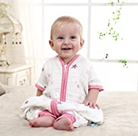 5e68e7f0faa19 Elf Star Ultra Soft and Breathable Baby Cotton Wearable Blanket Sleepsack  Pink 6-12 Months