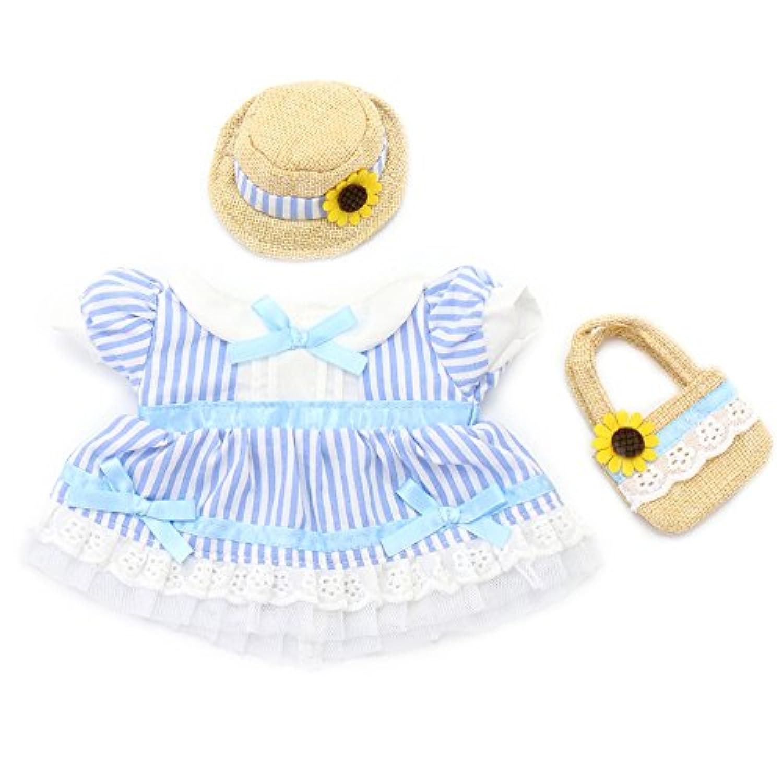 マザーガーデン Mother garden うさももドール プチ 着せ替え服 さわやかコーデ 青 Sサイズ用 お人形遊び きせかえ ドール 着せ替え服