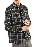 (アーケード) ARCADE 春 メンズ カジュアルシャツ 薄手 細身 ボタンダウンシャツ 長袖 ストライプ チェック 柄シャツ ブロードシャツ