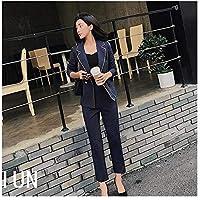 XuBa 2019 Autumn Professional wear Women's Pants ol Fashion Long-Sleeved Professional wear Women's Striped Ankle-Length Pants