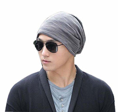 帽子 メンズ レディース 無地 薄手 シンプル 男女兼用 医療帽 ケア帽子 抗がん剤 大きめサイズ ガーゼ グレース ワッチキャップ 医療用帽子 ルームキャップ ヘアキャップ (グレー)