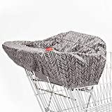 Skip Hop Shopping Cart and Baby High Chair Cover, Grey Feather