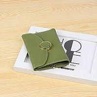 財布 女性のための小銭入れSimple short paragraph wallet レジャー財布 ( Color : Army green )