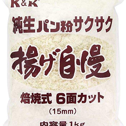 K&K 純生パン粉 サクサク 揚げ自慢 1kg×10袋入 【出荷時最低賞味期限保証残り25日】