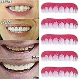 義歯化粧品歯、5個美容歯科ボタンアメージングスマイル快適な柔らかい歯科突き板歯科化粧品ステッカー