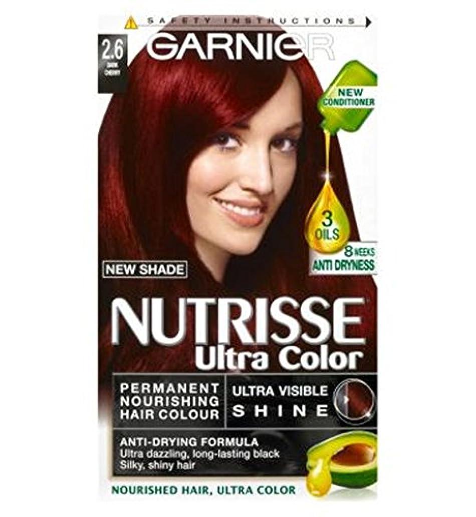 失われたにはまって刈るGarnier Nutrisse Ultra Permanent Colour 2.6 Dark Cherry - ガルニエNutrisse超永久色2.6ダークチェリー (Garnier) [並行輸入品]