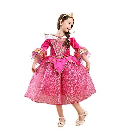 美女と野獣 ディズニープリンセス ベル フラワーガール ドレス ワンピース Pink 130CM