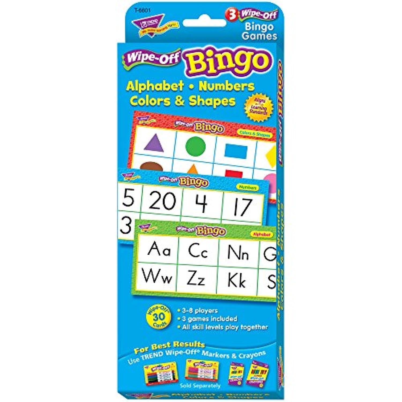 トレンド 英単語 ビンゴゲーム アルファベット 書いて消せる Trend Alphabet Numbers Colors Shapes Wipe Off Bingo T-6601