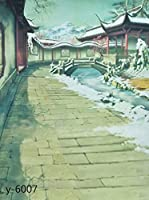 A Monamour中国インクWash図面画像フローラル印刷5x 7ftビニールファブリック写真背景壁壁画