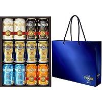 【手土産に最適な手提げ袋付き】ザ・プレミアム・モルツ ビールギフトセット 夏の限定5種 <輝(かがやき)  350ml×12本 YB30N オリジナル手提げ袋付き