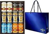【手土産に最適な手提げ袋付き】ザ・プレミアム・モルツ ビールギフトセット 夏の限定5種 <輝(かがやき)> 350ml×12本 YB30N オリジナル手提げ袋付き
