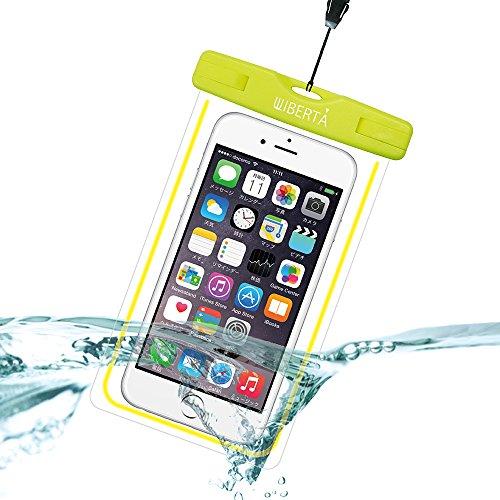 [リベルタ]LIBERTA 防水ケース スマートフォン スマホ 防水カバー 防水ポーチ iPhone6s Plus iPhone5s ネックストラップ付 日本語説明書 イエロー