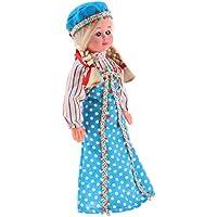 Baoblaze ヴィンテージ プラスチック製 国際民族記念コスチューム人形 - ロシアンブルー