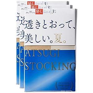 [アツギ] ATSUGI STOCKING(アツギ ストッキング) 透きとおって、美しい。【夏】 〈3足組〉 レディース FP8873P ヌーディベージュ 日本 L~LL (日本サイズ2L相当)-(日本サイズ2L相当)