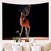 タペストリーの壁の装飾毛布の鹿壁の布吊り布の背景布の絵画